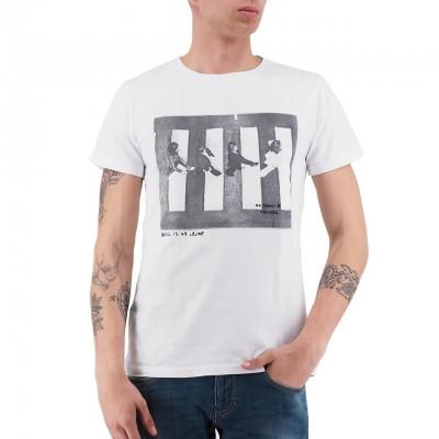 Ko Samui   Music T-Shirt Bianco   KSU_TT 807 PEDESTRIANS_WHT