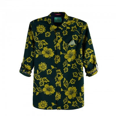 Scotch & Soda | Shirt With Sleeve Collectors Verde | S&S_148842_0221