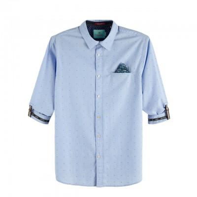 Scotch & Soda | Shirt With Sleeve Collectors Azzurro | S&S_148842_0219
