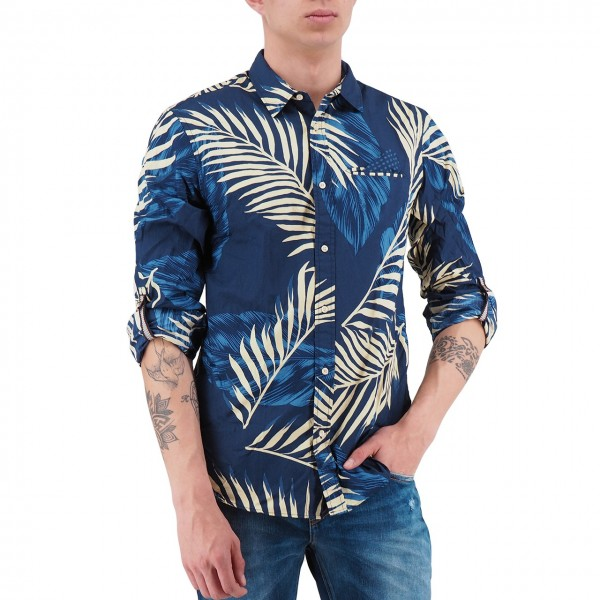 Scotch & Soda | Shirt With Sleeve Collectors Blu | S&S_148842_0220
