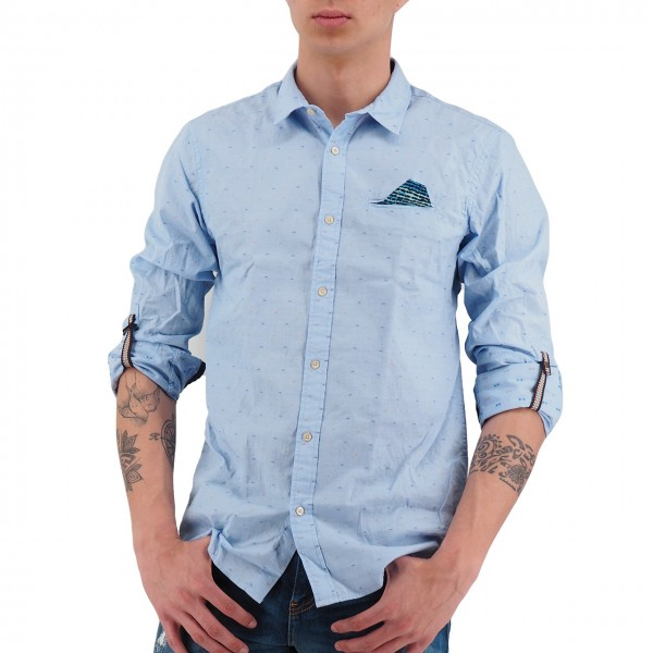 Scotch & Soda | Shirt With Sleeve Collectors Light Blue | S&S_148842_0219