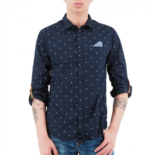 Scotch & Soda   Shirt With Sleeve Collectors Blu   S&S_148842_0218