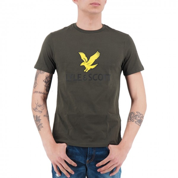 Lyle & Scott | Logo T-Shirt Green | LS_TS1020V_028