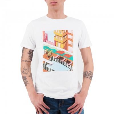 Scotch & Soda | T-shirt Con Stampa Fotografica Bianco | S&S_149033_0006