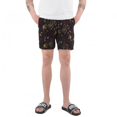 Scotch & Soda | Shorts Chino Con Stampa All-Over Nero | S&S_148796_0219