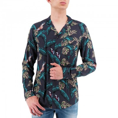 Scotch & Soda | Longsleeve All-Over Printed Shirt Blu | S&S_148859_0217