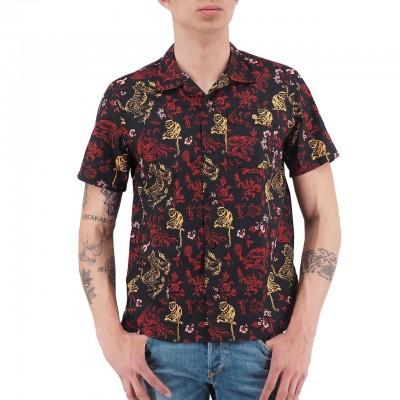 Scotch & Soda | Signature Hawaiian Shirt Rosso | S&S_148932_0217