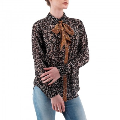 Scotch & Soda | Mixed Print Shirt With Detachable Tie Nero | S&S_149787_17