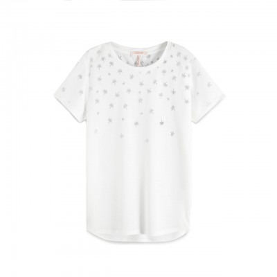 Scotch & Soda | T-Shirt Dèvorè Bianco | S&S_150165_01