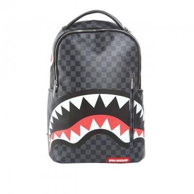 Sprayground | Grey Checkered Sharks In Paris Backpack Grey | SPR_910B1374SS19