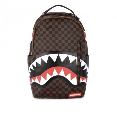 Sprayground | Backpack Sharks In Paris Brown Gold Zipper Brown | SPR_910B1890SS19