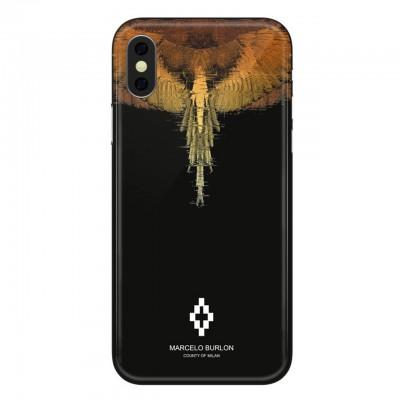 Marcelo Burlon   Glitch Cover iPhone X Nero   MBU_MX-GLITCH