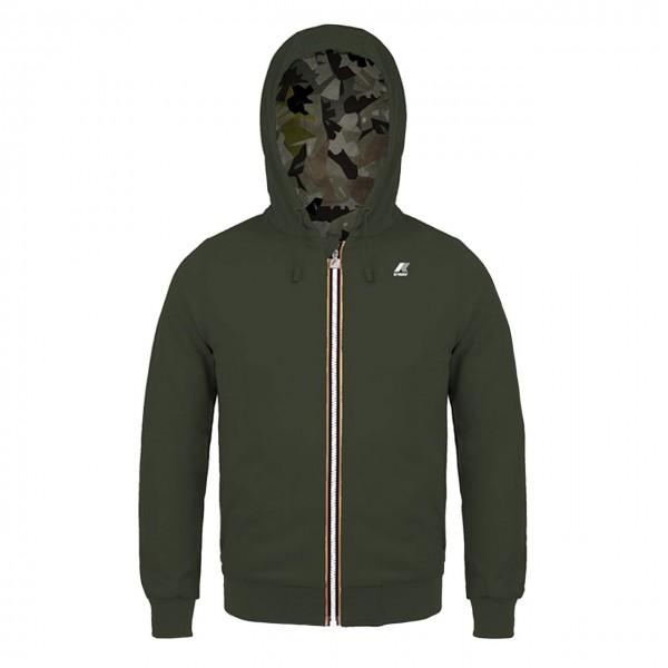 K-Way | Ragnar Double French Ny Grapich Sweatshirt Green | KWAY_K00AVY0_988_B