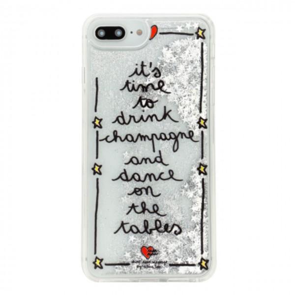 Silvia Tosi | Cover Liquid Champagne Per iPhone 8+ 7+ 6+ 6S+ Argento | BEN_ST8P-CHAMPAGNE