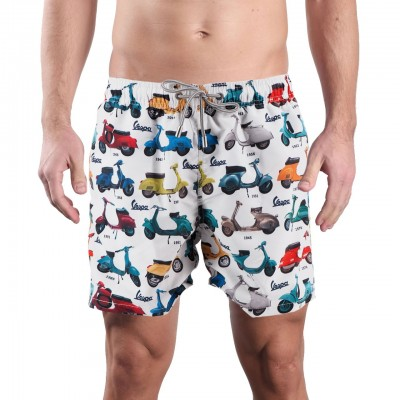 MC2 Saint Barth | Classic Swim Short Vespa Story 01 Blu | MC2_GUSTAVIA VSPT01