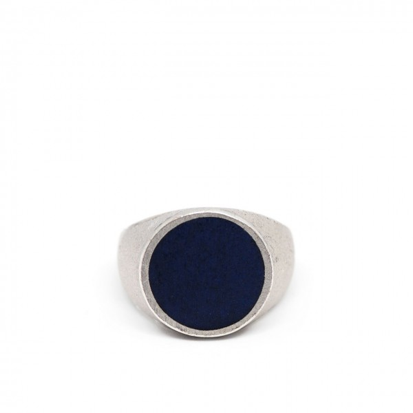 Double U Frenk | Circle Silver & Blue Ring Argento | DUF_CIRCLE SILVER&BLUE