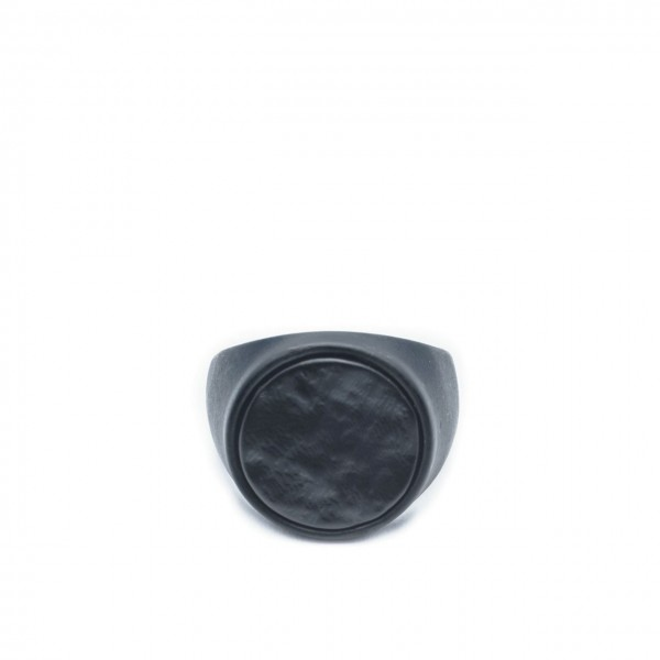 Double U Frenk | Circle Rough Total Black Ring Nero | DUF_CIRCLE ROUGH TB