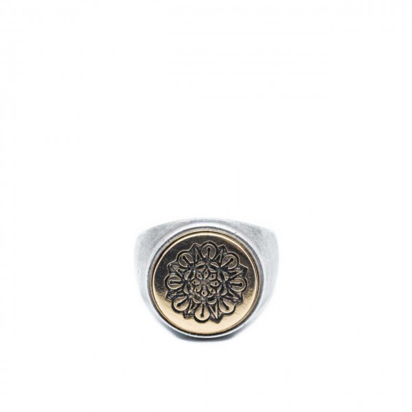 Double U Frenk | Circle Flower Silver & Gold Argento | DUF_CIRCLE FLOWER S&G
