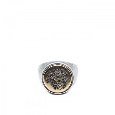 Double U Frenk | Circle Gypsy Silver & Gold Ring Argento | DUF_CIRCLE GYPSY S&G