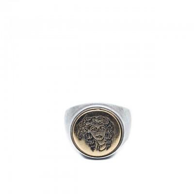 Double U Frenk | Circle Gypsy Silver & Gold Ring Argento | DUF_CIRCLE GYPSY S&G