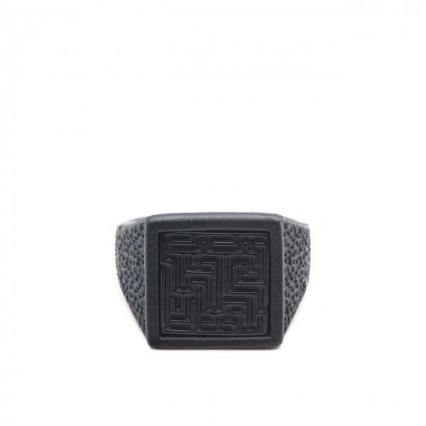 Double U Frenk   Labyrinth Total Black Ring Nero   DUF_LABYRINTH TB