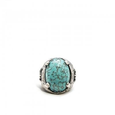Double U Frenk | Legionary Turquoise Ring Argento | DUF_LEGIONARY TURQUOISE