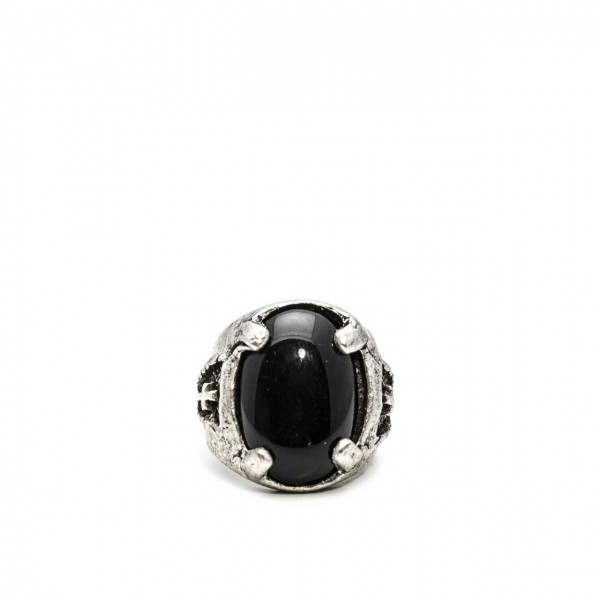 Double U Frenk | Legionary Black Ring Argento | DUF_LEGIONARY BLACK