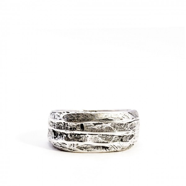 Double U Frenk | Ruined Ring Argento | DUF_RUINDED