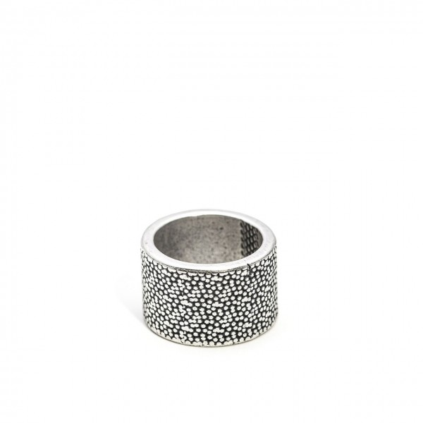 Double U Frenk | Pattern Ring Argento | DUF_PATTERN