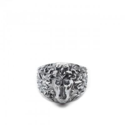 Double U Frenk | Makalu Lion Ring Argento | DUF_MAKALU LION
