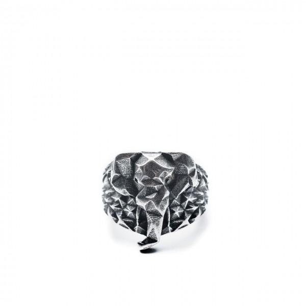 Double U Frenk   Makalu Elephant Ring Argento   DUF_MAKALU ELEPHANT