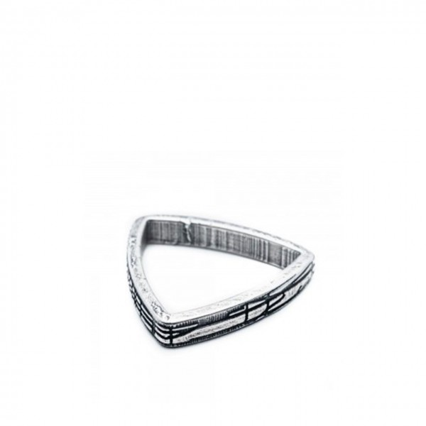 Double U Frenk | Shapes Triangle Ring Argento | DUF_SHAPES TRIANGLE