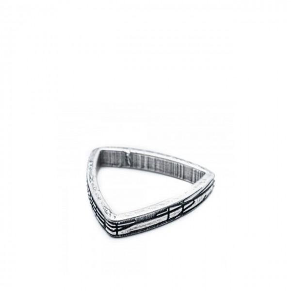 Double U Frenk | Shapes Triangle Ring Argento | DUF_SHAPES TRIANGLE