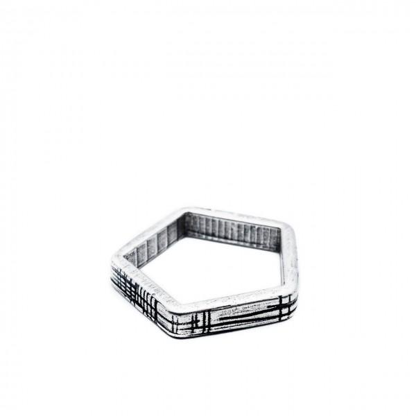 Double U Frenk | Shapes Pentagon Ring Argento | DUF_SHAPES PENTAGON