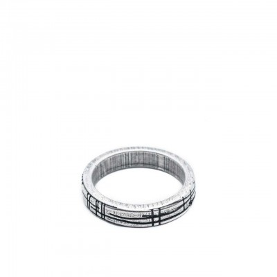 Double U Frenk | Shapes Circle Silver Ring Argento | DUF_SHAPES CIRCLE