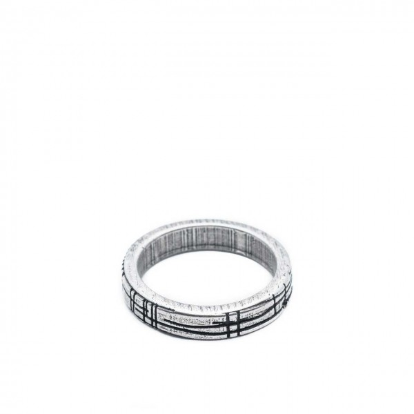Double U Frenk | Shapes Circle Silver Ring Argento | DUF_SHAPES CIRCLE