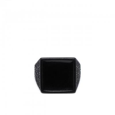 Double U Frenk | Square Total Black Ring Nero | DUF_SQUARE TB