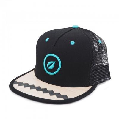 Recreate | Rovere & Radica Zig Zag Grid Snapback Hat Nero | RCA_ZIGZAGGRID_BLK-BR