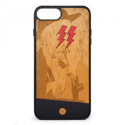 Recreate | Cover Wood Lightning Red iPhone 8+ 7+ 6s+ 6+ Nero | RCA_LIGHTNINGRED8+7+6+6S+_BLK-BR
