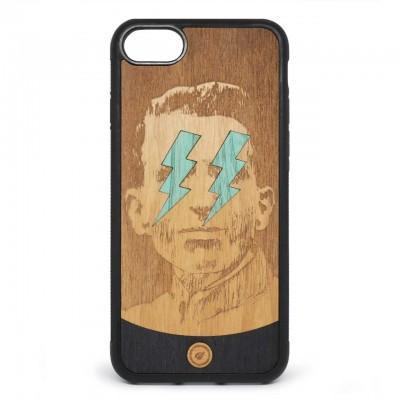 Recreate | Cover Wood Lightning Blue iPhone 8 7 Nero | RCA_LIGHTNINGBLUE8-7_BLK-BR