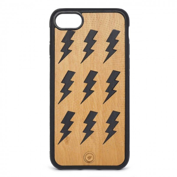 Recreate | Cover Wood Lightning iPhone 8 7 Nero | RCA_LIGHTNING8-7_BLK-BR