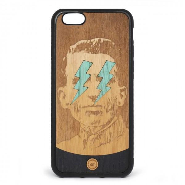 Recreate | Cover Wood Lightning Blue iPhone 6s 6 Nero | RCA_LIGHTNINGBLUE6-6S_BLK-BR