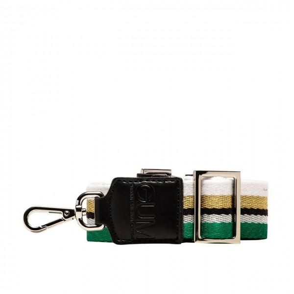 GUM Gianni Chiarini Design   Fabric And Synthetic Shoulder Bag Black   GUM_TR125/19PESTRIPE_3712