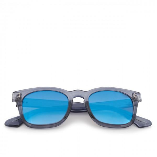 Saraghina | Sunglasses Michelangelo Grey Ashtray Crystal Lens Flash Blue | SAR_MICHELANGELO-261MGG