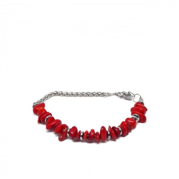 Double U Frenk | Bracciale Coral Rosso | DUF_BRA_CORAL CR