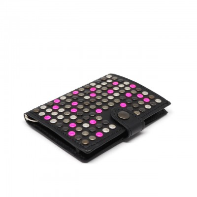Kjore Project | Black + Pink iClutch Studded + Coins Nero | KPJ_ICLUTCHSTUDCOINS NERO ROSA