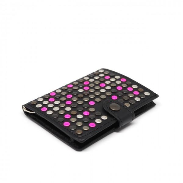 Kjore Project | Black + Pink iClutch Studded + Coins Nero | KPJ_ICLUTCHSTUDCOINS NERO ROSA