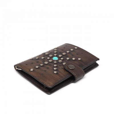 Kjore Project | Brown Los Angeles iClutch Studded + Coins Marrone | KPJ_ICLUTCHSTUDCOINS LA BRW