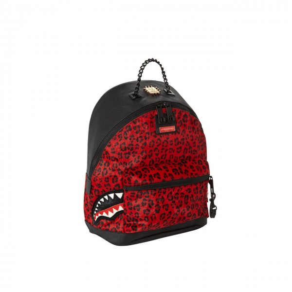 Sprayground | Red Leopard Side Shark 6 Strap Rosso | SPR_910B2277NSZ