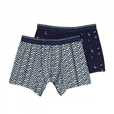 Scotch & Soda | Classic Boxer With All-Over Print Blue | S&S_148567_0218
